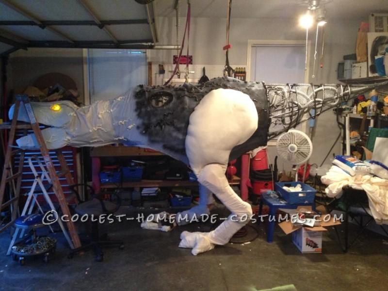 Epic DIY Cyborg T-Rex Costume - 3