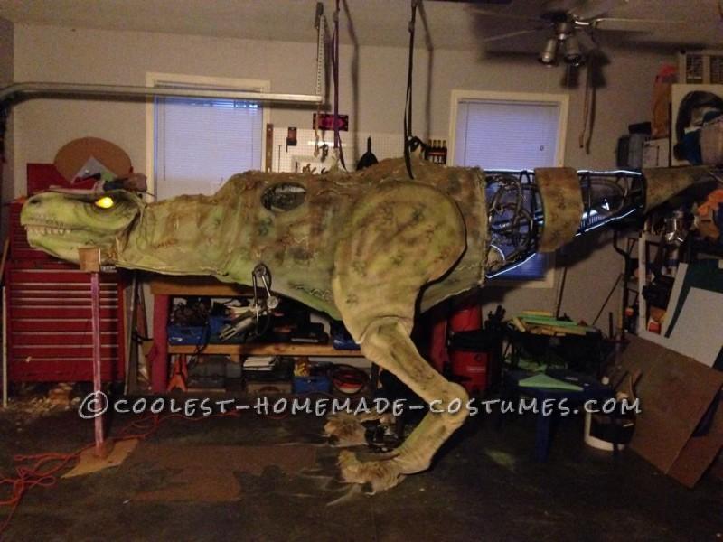 Epic DIY Cyborg T-Rex Costume - 4