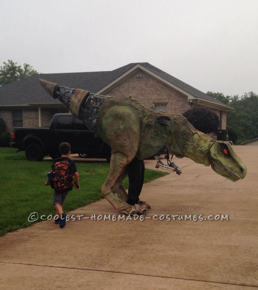 Epic DIY Cyborg T-Rex Costume