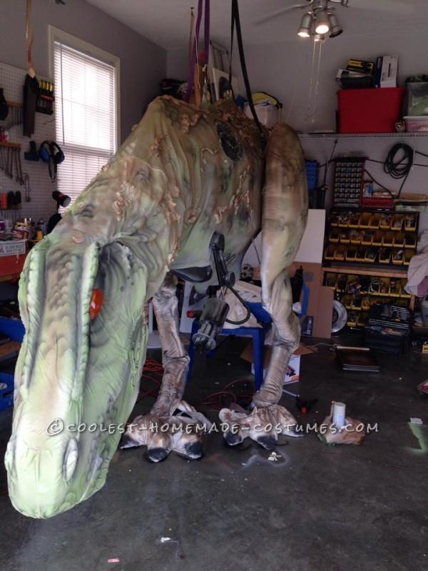 Epic DIY Cyborg T-Rex Costume - 6
