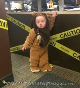 Cute Homemade Little Ewok Costume