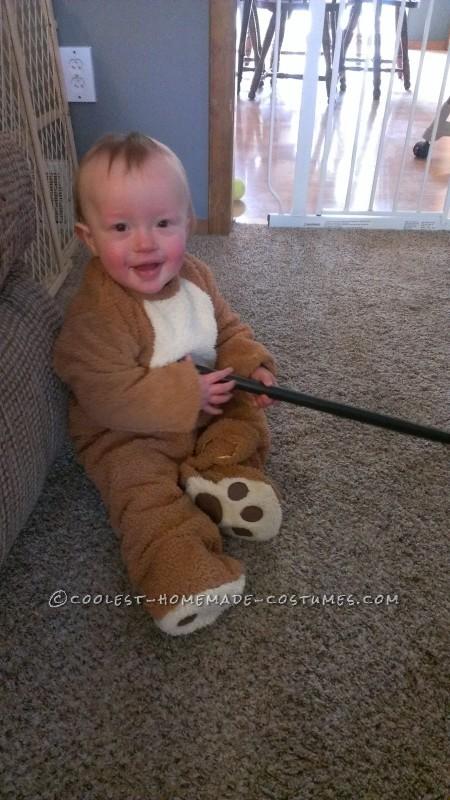 Cute Homemade Little Ewok Costume - 4