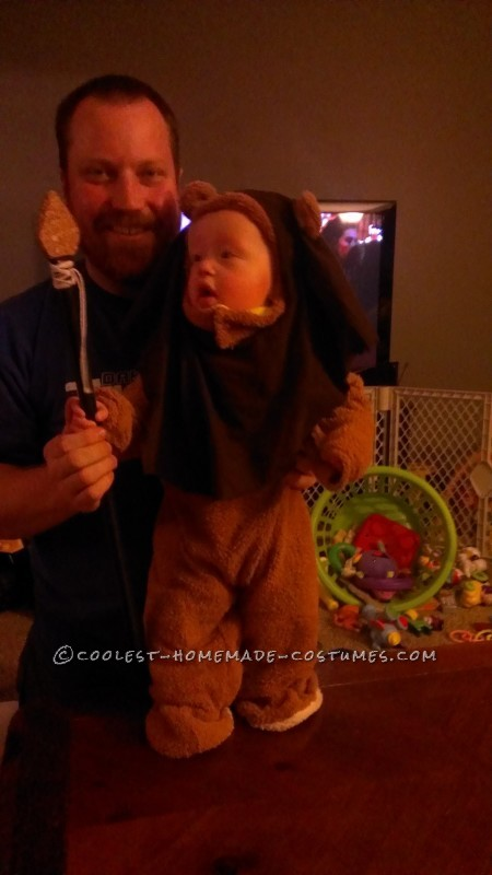 Cute Homemade Little Ewok Costume