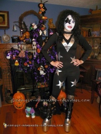 Cool Homemade KISS Starchild Female Costume