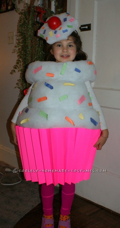 Best Homemade Cupcake Costume for a Girl - 5
