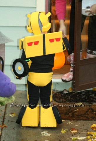 Cool Bumblebee Autobot Homemade Costume for Toddlers