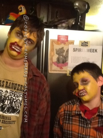 Homemade Zombie Costumes and Makeup