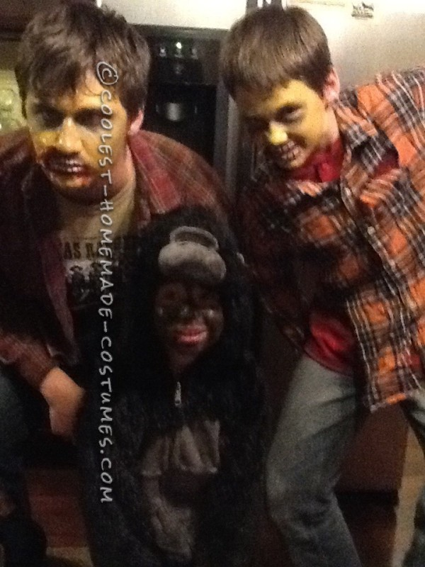 Homemade Zombie Costumes and Makeup - 1