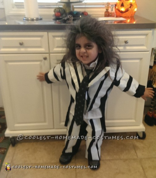 Easy Beetlejuice Costume for a Child