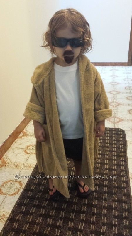 Original Homemade Toddler Costume: The Dude from Big Lebowski