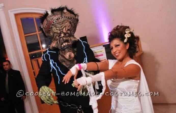 Cool Bride of Frankenstein and Frankenstein Couple Costume - 1