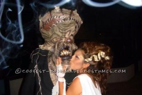 Cool Bride of Frankenstein and Frankenstein Couple Costume