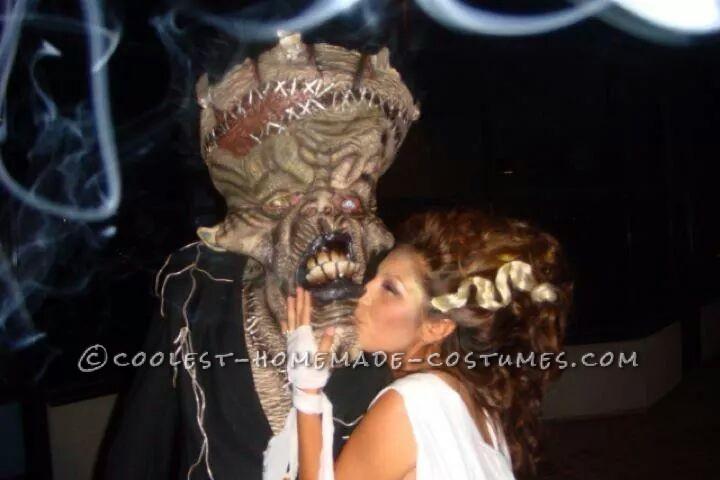 Cool Bride of Frankenstein and Frankenstein Couple Costume - 3