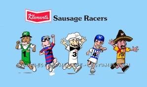 Last Minute Group Costume Idea: MLB Racing Sausages