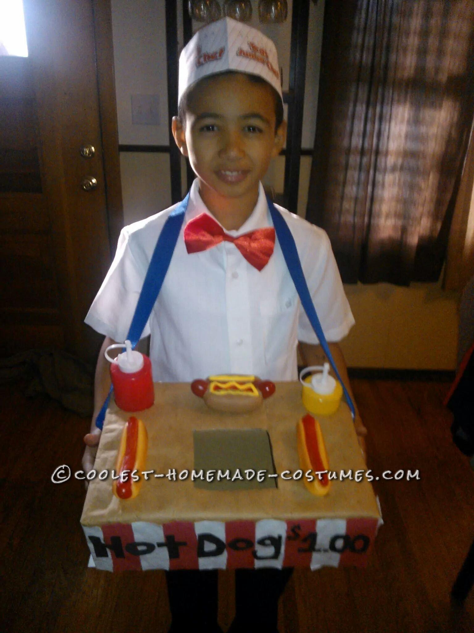 Cool Hot Dog Vendor Costume for Hot-Dog-Loving Boy