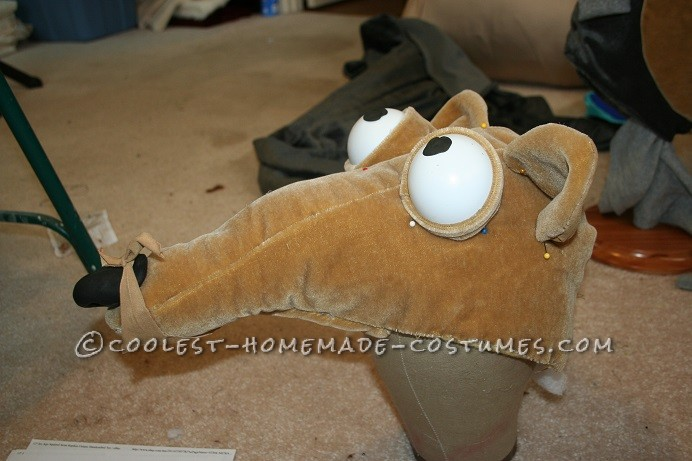 Cool Ice Age Scrat and Acorn Costume for a Child
