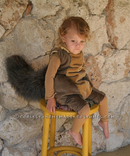 Cool Ice Age Scrat and Acorn Costume for a Child - 2