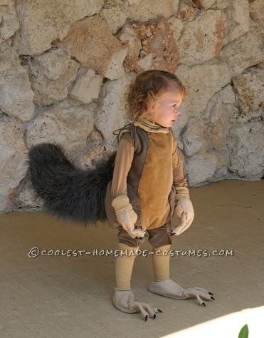 Cool Ice Age Scrat and Acorn Costume for a Child - 3