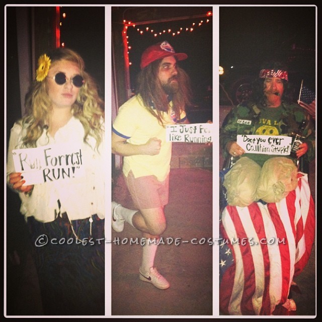 Last Minute Forrest Gump Group Costume