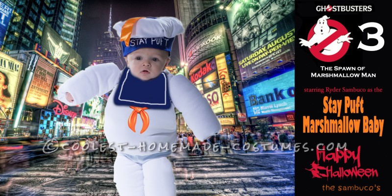 Adorable Stay Puft Marshmallow Baby Costume