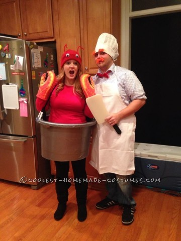 Super-Easy Homemade Costume for Couples: Swedish Chef and Lobster in a Pot