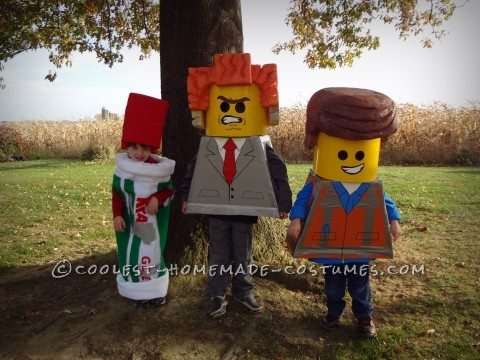Three Brothers Living the LEGO Movie Dream on Halloween