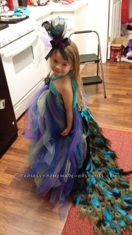 Lovely Homemade Toddler Peacock Costume