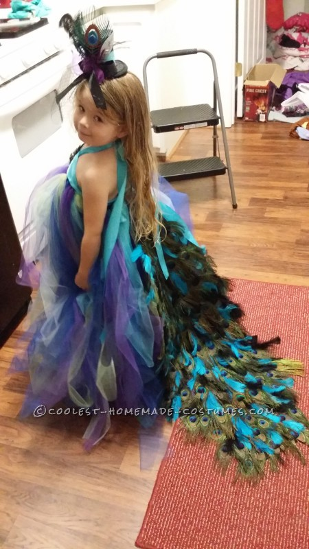 Lovely Homemade Toddler Peacock Costume - 1