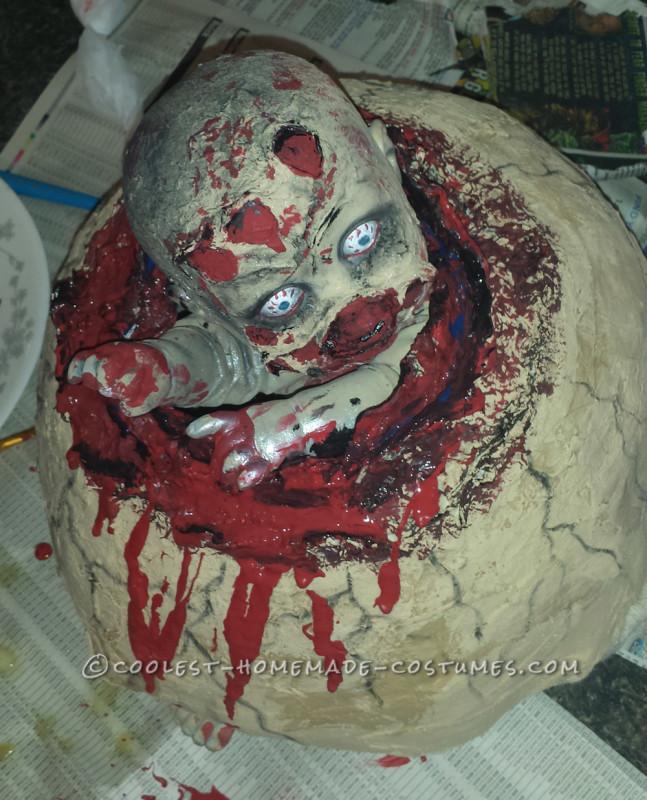 Creepy Couple Costume: Birthing a Baby Zombie - 3