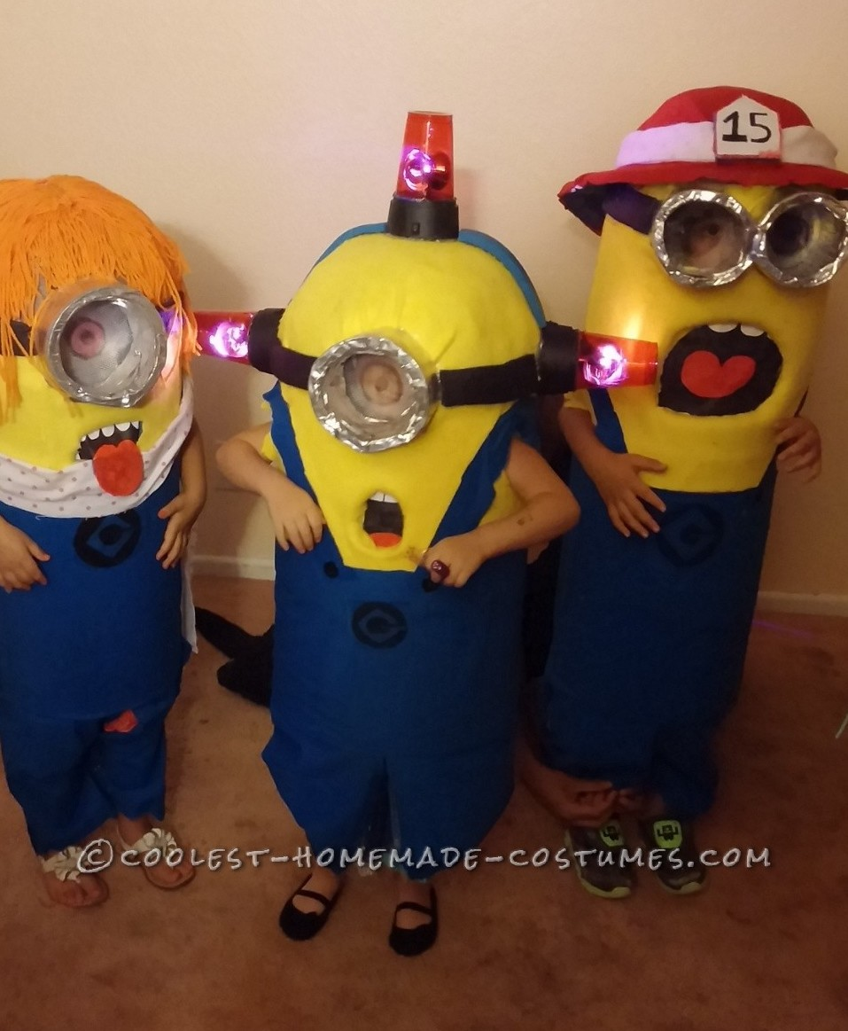 Cool Family Halloween Costume: Adorable Minions