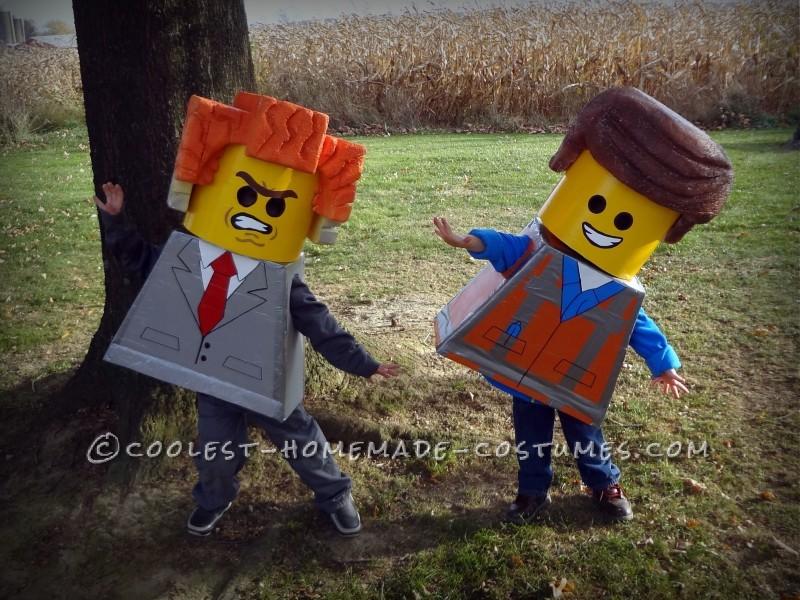 Three Brothers Living the LEGO Movie Dream on Halloween