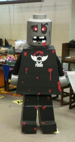 Six Foot Tall Lego Zombie Man Costume