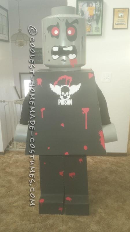 Six Foot Tall Lego Zombie Man Costume