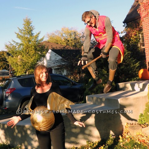 Amazing Pregnant Couples Harry Potter Seeker and Snitch Costume