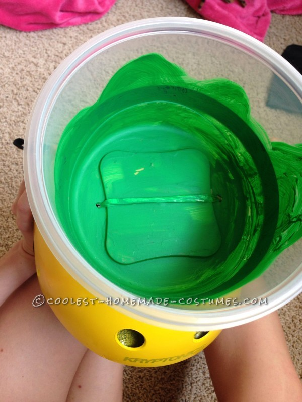 A look inside the final slime bowl on top of the Double Dare helmet.