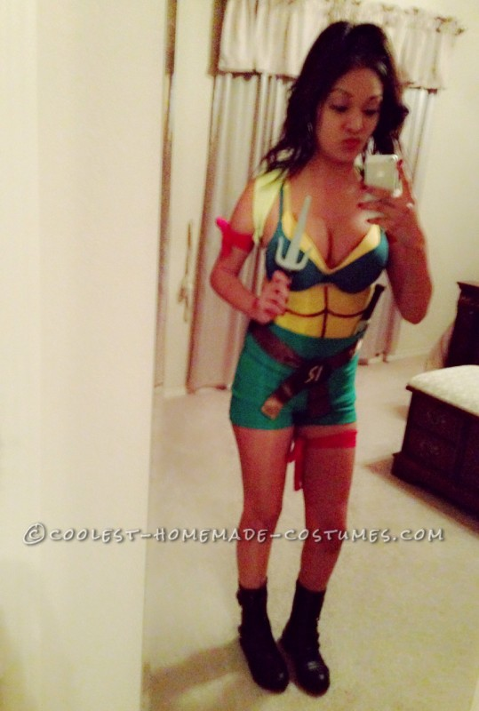 Sexy Homemade Ninja Turtle Costume - 1