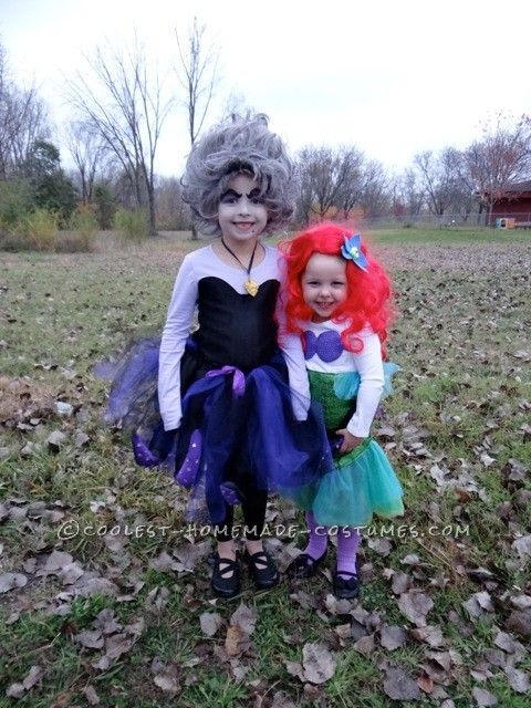 Awesome Ursula and Ariel Costumes