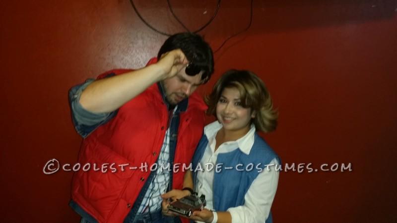 Marty McFly and Jennifer Parker