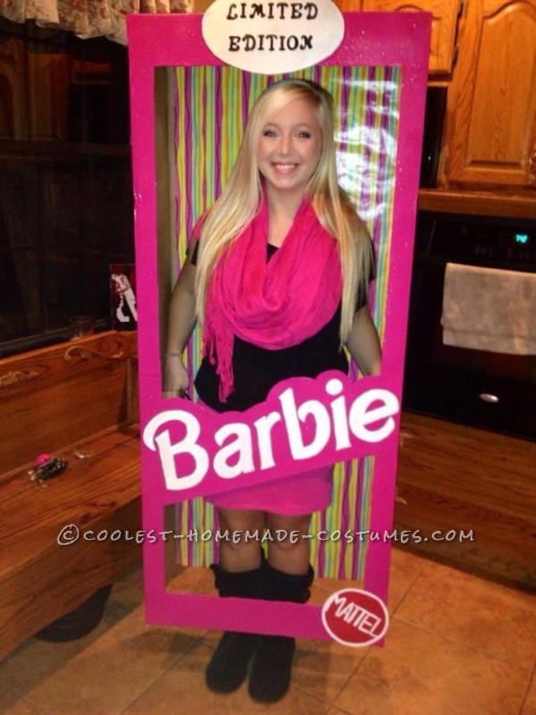 Cool Homemade Barbie in a Box Costume
