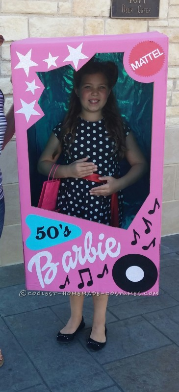 Cool 50's Barbie in a Box Costume