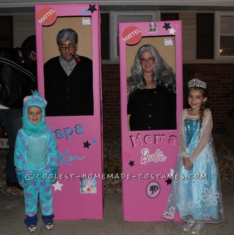 Mema Barbie and Papa Ken Couple Costume - 1