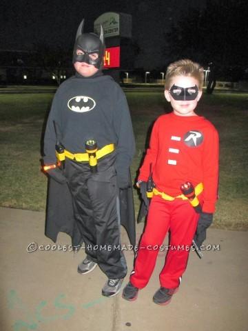 Cool Batman, Robin and Villain Family Costumes