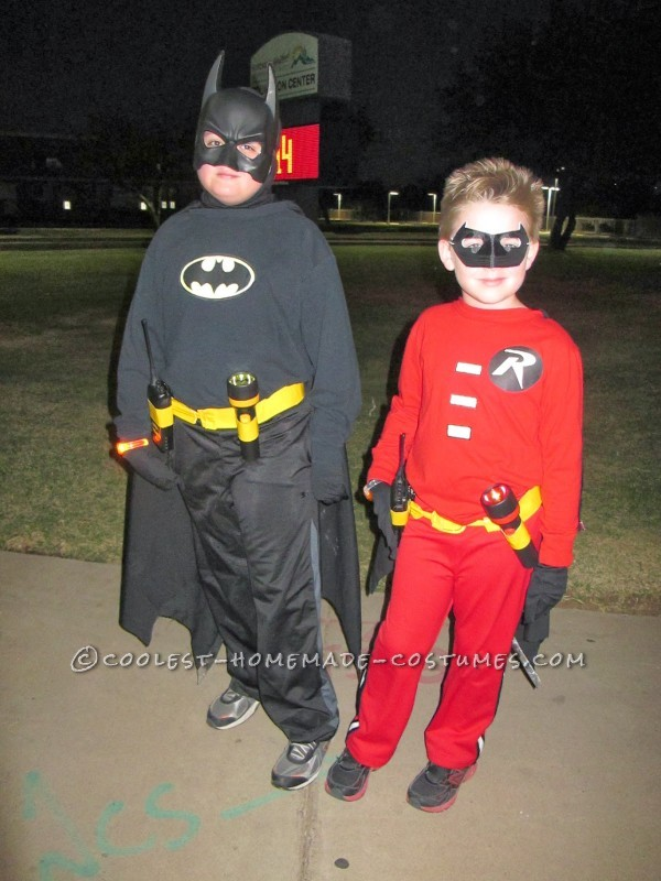 Cool Batman, Robin and Villain Family Costumes - 1