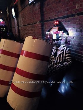 Cool Homemade Beetlejuice Costume - 3