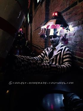 Cool Homemade Beetlejuice Costume - 4