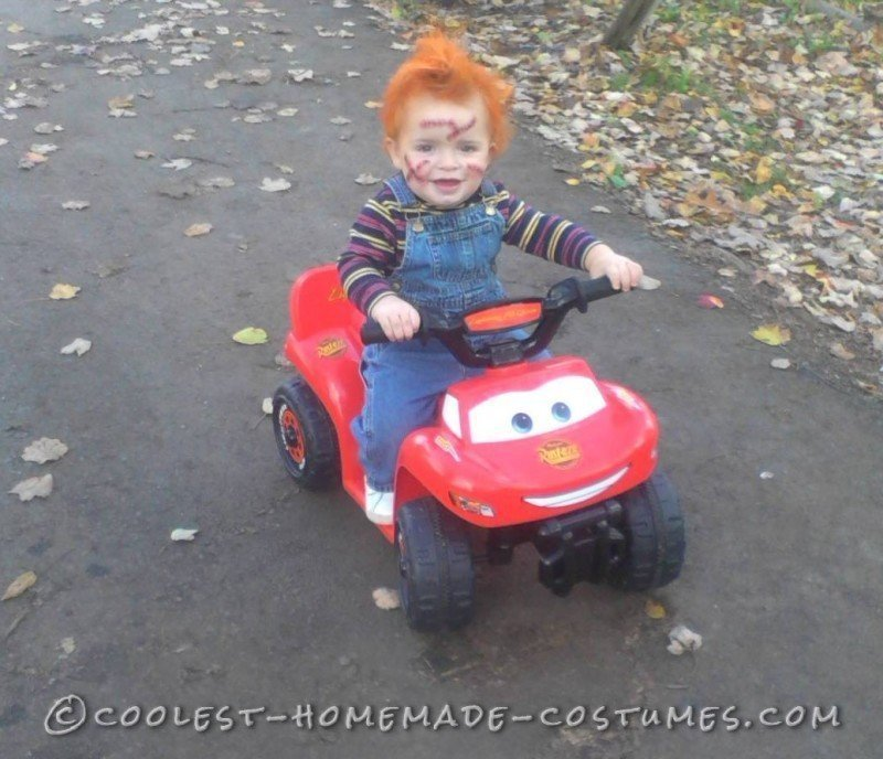 Creepy 1 year old chucky costume for Homemade halloween costumes for 10 year olds