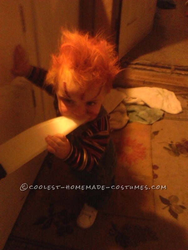 Creepy 1-Year-Old Chucky Costume - 2