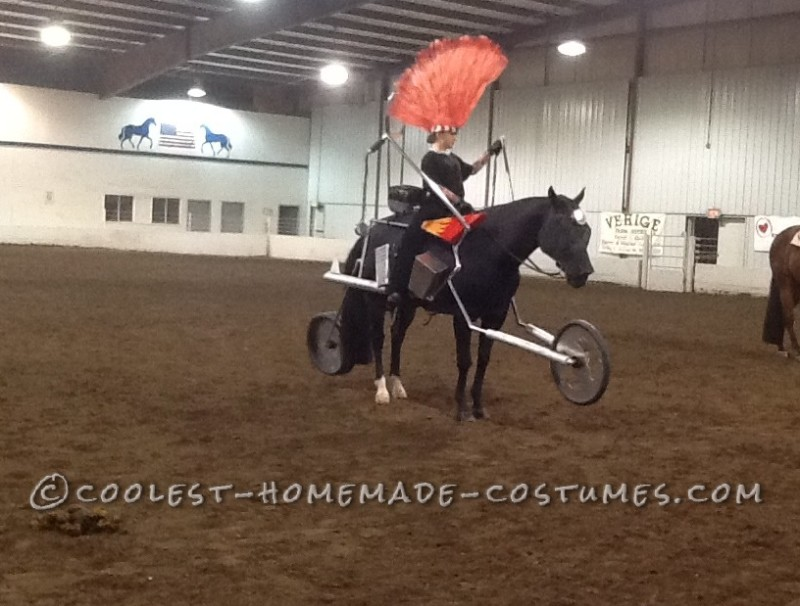 Horse and Rider Costume: Biker Girl on a Harley Horse - 1
