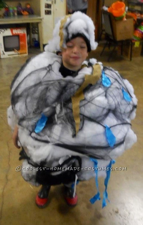 Storm Cloud and Lightning Victim Couple Costume - 5