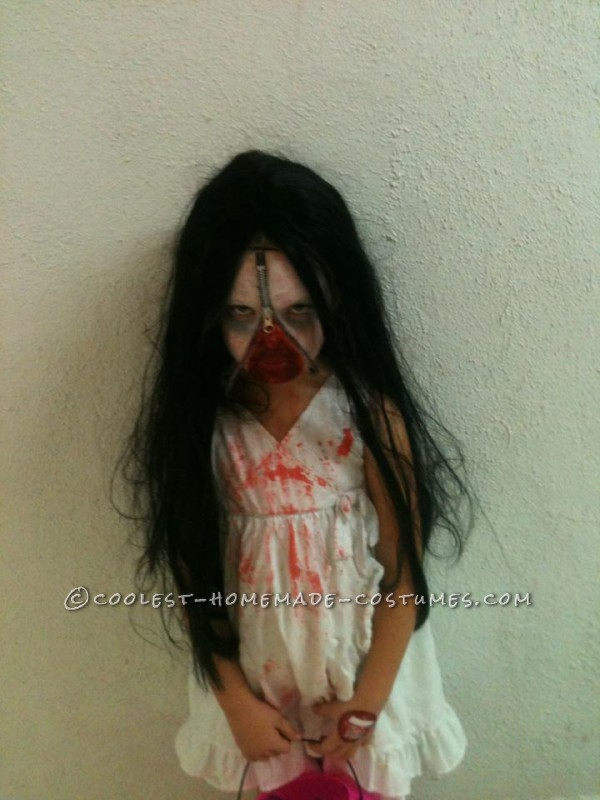 Scary Zipper-Face Bloody Mary Costume